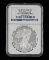 2010-W American Silver Eagle $1 One Dollar Coin - Early Releases (NGC PF70 Ultra Cameo) at PristineAuction.com