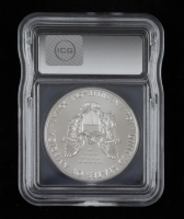 2018 American Silver Eagle $1 One Dollar Coin - First Day of Issue, Black Eagle Label (ICG MS70 ) at PristineAuction.com