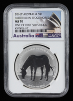 2016-P Australian Stock Horse $1 One Dollar Silver Coin - Early Releases (NGC PF70) at PristineAuction.com