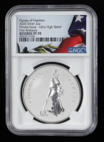 2020 Flames of Freedom 2oz .999 Silver Coin - First Releases (PCGS MS70) at PristineAuction.com