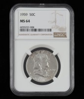 1959 Franklin Half Dollar (NGC MS64) at PristineAuction.com