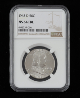 1963-D Franklin Half Dollar (NGC MS64 Full Bell Line) at PristineAuction.com