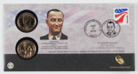 Set of (2) 2015 P&D Mint Lyndon B. Johnson Presidential $1 One Dollar Coins at PristineAuction.com