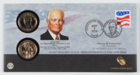 Set of (2) 2015 P&D Mint Dwight D. Eisenhower Presidential $1 One Dollar Coins at PristineAuction.com