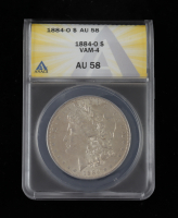 1884-O Morgan Silver Dollar, VAM-4 (ANACS AU58) at PristineAuction.com