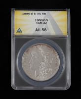 1880-O Morgan Silver Dollar, VAM-32 (ANACS AU58) at PristineAuction.com