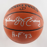 "Julius ""Dr. J"" Erving Signed NBA Basketball Inscribed ""HOF '93"" (PSA COA) at PristineAuction.com"
