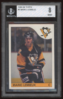 Mario Lemieux 1985-86 Topps #9 RC (BGS 8) at PristineAuction.com