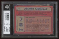 Mario Lemieux 1985-86 Topps #9 RC (BGS 8) at PristineAuction.com