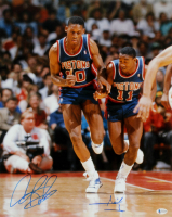 Dennis Rodman & Isiah Thomas Signed Pistons 16x20 Photo (Beckett COA) at PristineAuction.com