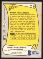 Bobby Richardson Signed 1988 Pacific Legends I #74 (Beckett COA) at PristineAuction.com