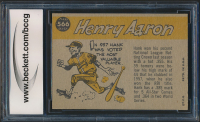 Hank Aaron 1960 Topps #566 All-Star (BCCG 9) at PristineAuction.com
