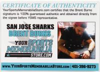 Brent Burns Signed Jersey (Burns COA) (See Description) at PristineAuction.com