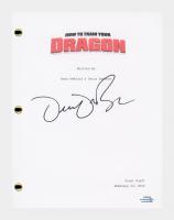 "Dean DeBlois Signed ""How To Train Your Dragon"" Movie Script (AutographCOA COA) at PristineAuction.com"