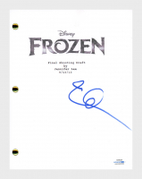 "Idina Menzel Signed ""Frozen"" Full Movie Script (AutographCOA COA) at PristineAuction.com"