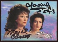 Majel Barrett & Marina Sirtis Signed Counselor Deanna Troi 1994-99 Star Trek The Next Generation Episode Collection #119 (JSA COA) at PristineAuction.com
