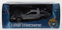 "Christopher Lloyd Signed ""Back to the Future II"" DeLorean Time Machine 1:24 Scale Die-Cast Car (Beckett COA) (See Description) at PristineAuction.com"