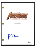 """Pom Klementieff Signed """"Avengers Infinity War"""" Movie Script (Beckett COA) at PristineAuction.com"""