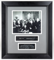 Pen Used by Lyndon B. Johnson to Sign the 1964 Civil Rights Act Display 17x19.5 Custom Framed Display at PristineAuction.com