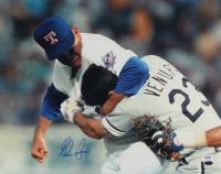 Nolan Ryan Signed Rangers 16x20 Photo (PSA COA & Ryan Hologram) (See Description) at PristineAuction.com