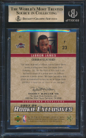 LeBron James 2003-04 Upper Deck Rookie Exclusives Jerseys #J1 (BGS 9.5) at PristineAuction.com