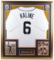 Al Kaline Signed 33x37 Custom Framed Jersey Display with Tigers lapel Pin (JSA COA) at PristineAuction.com