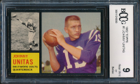 Johnny Unitas 1962 Topps #1 (BCCG 9) at PristineAuction.com
