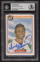 Frank Robinson Signed 1983 Donruss HOF Heroes #19 (BGS Encpasulated) at PristineAuction.com