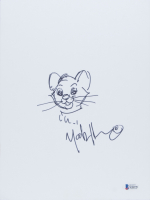 "Mark Henn Signed ""Oliver & Company"" 8x10 Hand-Drawn Sketch (Beckett COA) at PristineAuction.com"