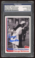 """George Mendonsa Signed LE """"The Kissing Sailor"""" 2010 Topps Trading Card (PSA Encapsulated) at PristineAuction.com"""
