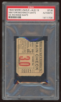 Vintage 1922 Negro League Baseball Game Ticket (PSA Authentic) at PristineAuction.com