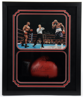Mike Tyson Signed 22x26x5 Custom Framed Boxing Glove Shadowbox Display (Fiterman Hologram) (See Description) at PristineAuction.com