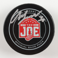 "Chris Osgood Signed Red Wings ""The Joe"" Farewell Season Hockey Puck (Beckett COA) at PristineAuction.com"