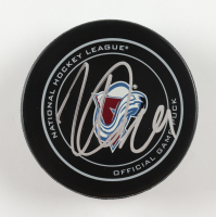 Nathan MacKinnon Signed Avalanche Logo Hockey Puck (JSA COA) at PristineAuction.com