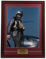 """Ted Williams """"Marine Attack Squadron 311"""" Signed 20x26 Custom Framed Photo Display with (2) Red Sox Pins (Ted Williams COA) at PristineAuction.com"""
