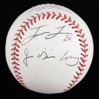 Jose Cruz, Jason Lane, & Phil Garner Signed OML Baseball (JSA COA) (See Description) at PristineAuction.com
