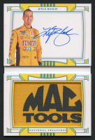 Kyle Busch 2020 Panini National Treasures Jumbo Firesuit Patch Signature Booklet Associate Sponsor #KY #1/1 at PristineAuction.com