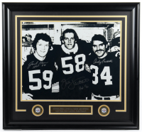 "Jack Ham, Jack Lambert & Andy Russell Signed Steelers 25x27 Custom Framed Photo Display Inscribed ""HOF 88"" & ""HOF '90"" (JSA COA) at PristineAuction.com"