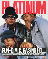 "Rev Run, D.M.C. & Jam Master Jay Signed ""Run-DMC"" 11x14 Magazine Cover (Beckett LOA) (See Description) at PristineAuction.com"