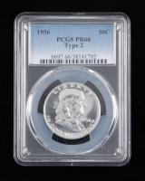 1956 Franklin Half Dollar (PCGS PR66) at PristineAuction.com