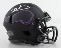 Dante Culpepper Signed Vikings Eclipse Alternate Speed Mini Helmet (JSA COA) at PristineAuction.com