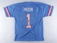 "Warren Moon Signed Jersey Inscribed ""HOF 06"" (Schwartz Sports COA) (See Description) at PristineAuction.com"