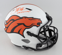 "Terrell Davis Signed Broncos Full-Size Lunar Eclipse Alternate Speed Helmet Inscribed ""SB XXXII"" (Beckett Hologram) at PristineAuction.com"