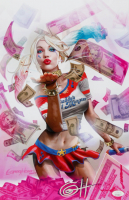 """Greg Horn Signed """"Harley Quinn: Blood Money Pink"""" 11x17 Lithograph (JSA COA) at PristineAuction.com"""