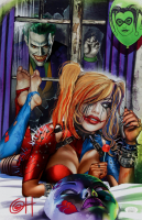 "Greg Horn Signed Marvel ""Harley Quinn & Knocking Joker"" 11x17 Lithograph (JSA COA) at PristineAuction.com"