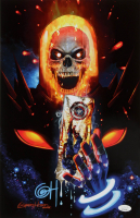 "Greg Horn Signed Marvel ""Ghost Rider & Captain America"" 11x17 Lithograph (JSA COA) at PristineAuction.com"