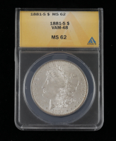 1881-S Morgan Silver Dollar, VAM-48 (ANACS MS62) at PristineAuction.com