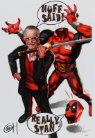 "Greg Horn Signed LE ""Deadpool & Smilin' Stan"" 13x19 Lithograph (JSA COA) at PristineAuction.com"
