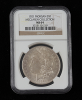 1921 Morgan Silver Dollar - McClaren Collection (NGC MS64) at PristineAuction.com