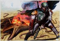 "Greg Horn Signed ""Star Wars"" Boba Fett 13x19 Lithograph (JSA COA) at PristineAuction.com"